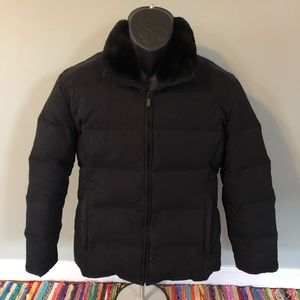 Andrew Marc Puffer Jacket Wintter Ski Coat Fuzzy